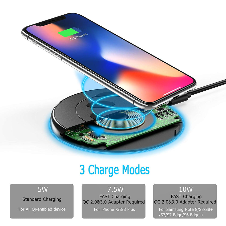 Choetech Fast Wireless Charger 10W 7.5W iPhone Samsung LG