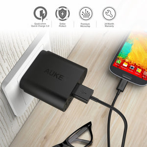 Aukey PA-T9 USB Wall Charger  with Quick Charge 3.0