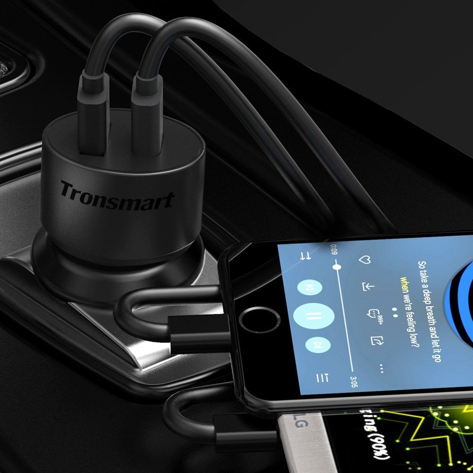 Tronsmart 36W Dual Quick Charge 3.0 Car Charger CC2TF