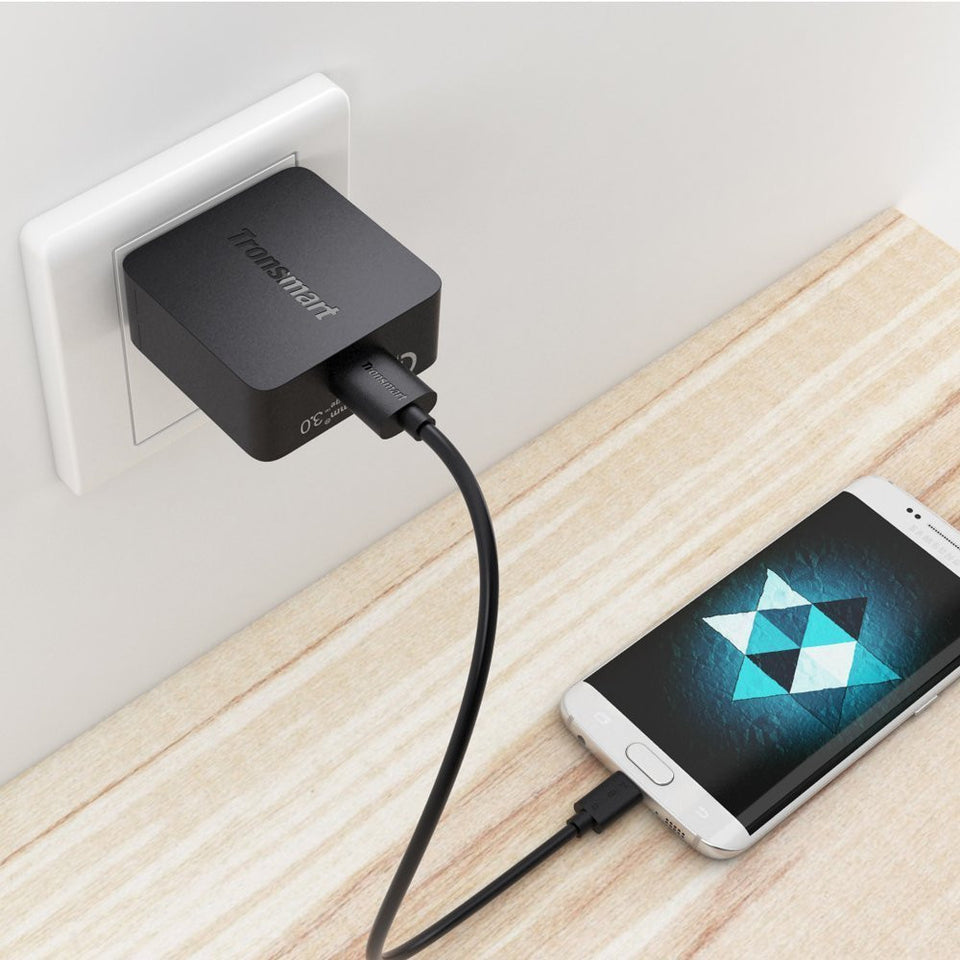 Tronsmart WC1TB Wall Charger w/ Quick Charge 3.0 Free Micro USB Cable