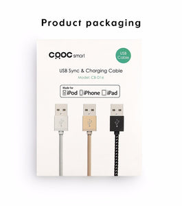 CRDC iphone Lightning Cable, 1M Nylon Braided CB-D16 Aukey