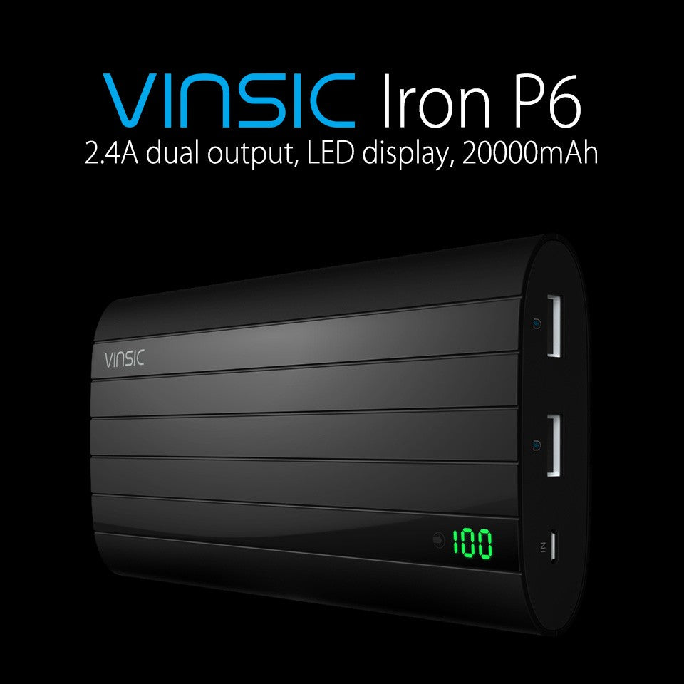 Vinsic 20000mAh Power Bank fast charge 5V2.4A usb Charging