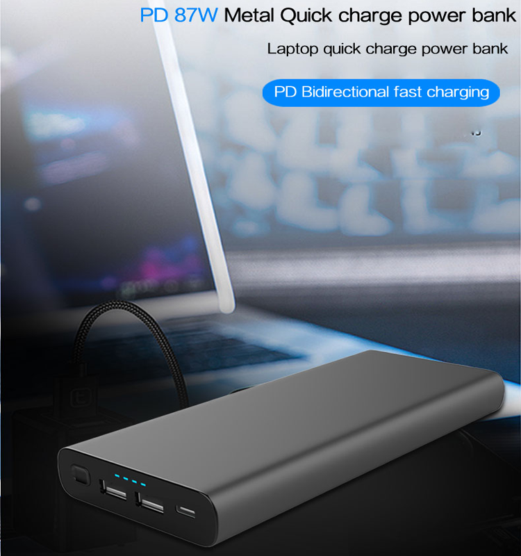 Technoamp 25000mAh 87W PD 3.0 PPS USB Type C Power Bank w/ 2 Ports QC 3.0 Power Delivery PBTC25