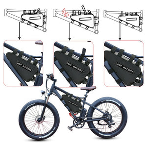 E Bike Hard Case triangle battery 48V31.5Ah lithium ion 1920W Samsung 3500mah 48V40A w/ 4A charger