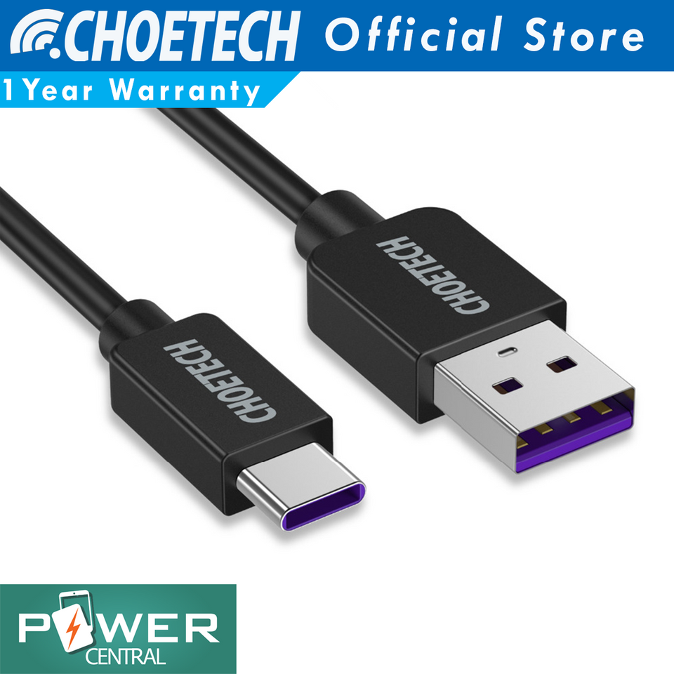Choetech 5V5A Huawei Super Charge USB Type C Cable 3.3ft