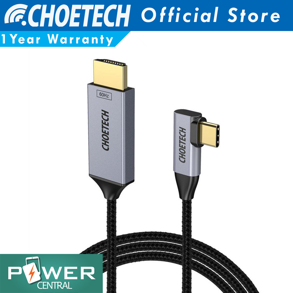 CHOETECH USB C to HDMI Braided L Cable(4K@60Hz), 3.9ft