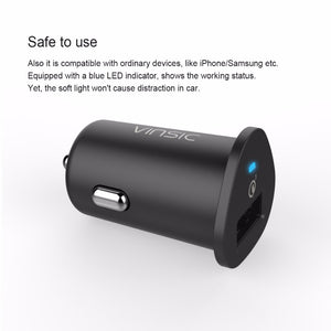 Vinsic USB Car Charger W/ Quick Charge 3.0 VSCC106B