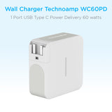 Technoamp WC60PD 1 Port USB Type C Power Delivery 60 watts