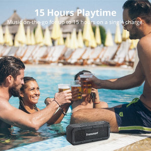 Tronsmart Force SoundPulse 40W IPX7 Waterproof Bluetooth 4.2 Wireless Speakers with 15-Hour Playtime