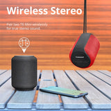 Tronsmart T6 Mini 15W Ultra Portable Speaker with 24 Hours Playtime, Good Bass, IPX6 Waterproof, Bluetooth 5.0, Wireless Stereo Pairing, Voice Assistant, Built-in Microphone