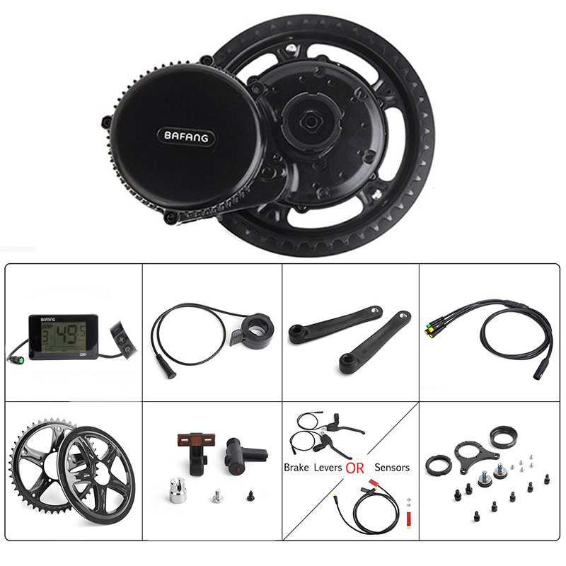 Bafang BBS02B 48V 750W Mid Drive Electric Bike Motor Ebike Conversion Kit Mid Motor Mountain Bike