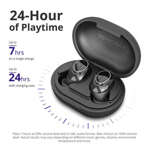 Tronsmart Onyx Neo Bluetooth 5.0 True Wireless Earbuds Qualcomm aptX, HiFi Stereo, CVC 8.0 Noise Cancelling, 24H Playtime, Mic, Compatible With Android iOS