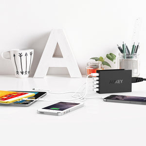 AUKEY PA-T15  5-Port Charging Station  with Quick Charge 3.0