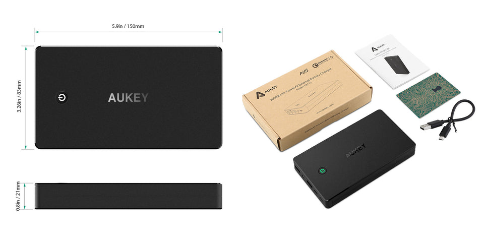 AUKEY PB-T10 20000mAh Portable Charger with Quick Charge 3.0 aukeyph