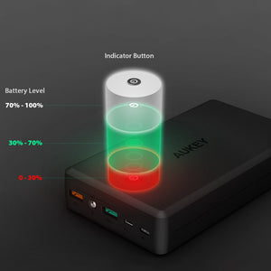 AUKEY PB-T11 30000mAh Portable Charger with Quick Charge 3.0 Aukeyph