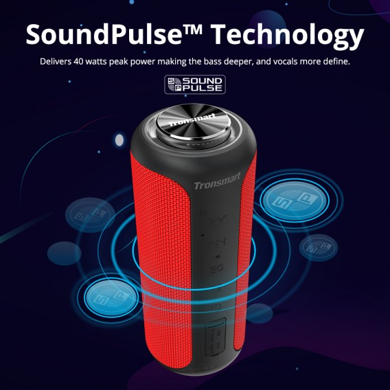 Tronsmart T6 Plus Upgraded Edition Bluetooth 5.0 40W Speaker NFC Connection 15 Hours Playtime IPX6 USB Charge