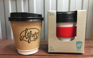 The reusable coffee cup