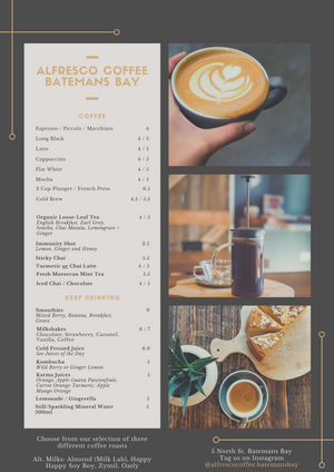 Speciality Coffee Shop Batemans Bay South Coast New South Wales