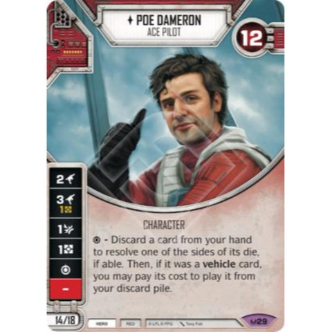 Star Wars Destiny Single - Poe Dameron - Ace Pilot