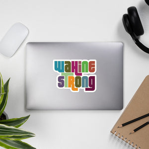 Wahine Strong Groovy Sticker