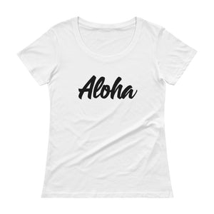 Only Aloha Scoop Neck