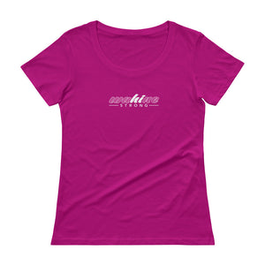 Wahine Strong Pink Scoop Neck