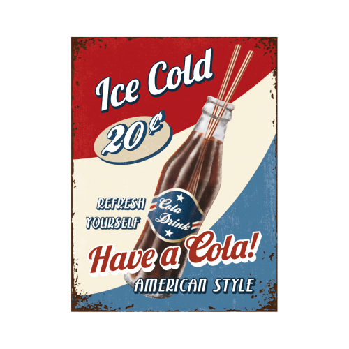 Fridge Magnet - Ice Cold Cola