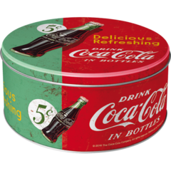 Retro Round Tin - Coke