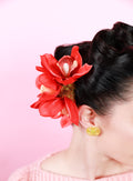 Brookleigh hair flower - Large Red Trio