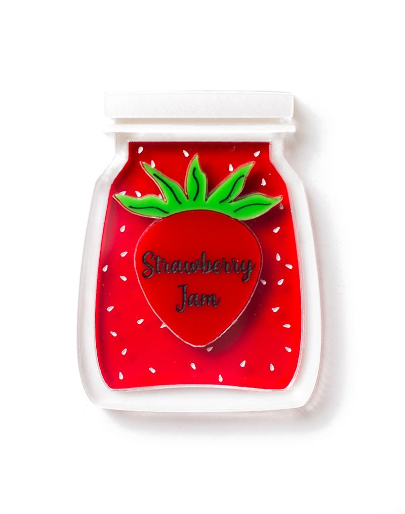 Martinis and Slippers Strawberry Jam Brooch