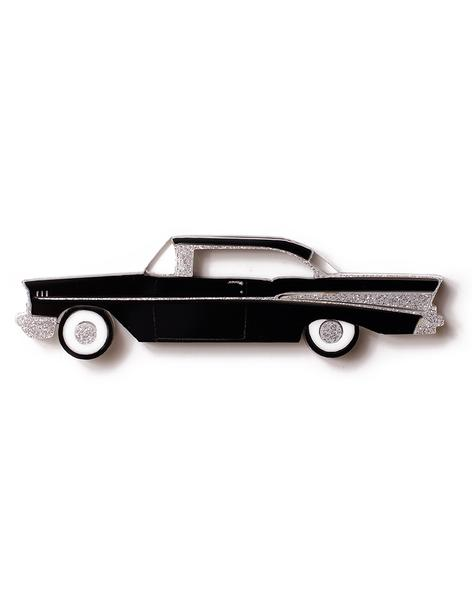 Martinis and Slippers Brooch - 57 Chev Black