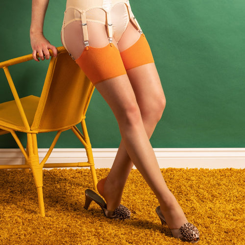 What Katie Did Glamour seamed stockings - Pumpkin
