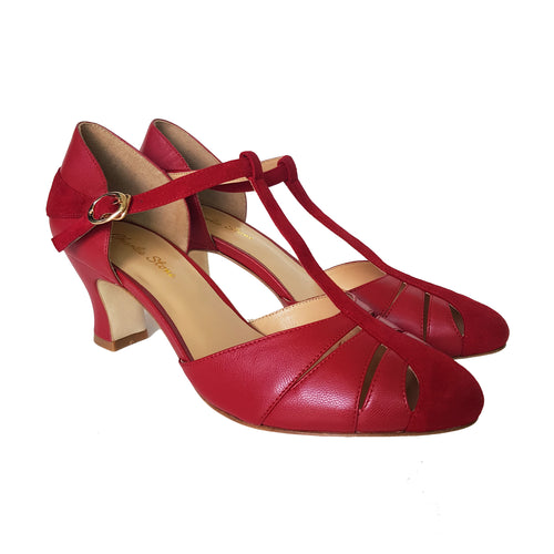 Charlie Stone Luxe Toscana Heel - Blood Red