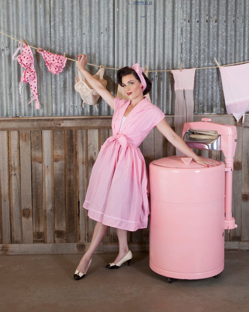 SALE!! Bonsai Kitten Soda Pop Dress - Pink Gingham
