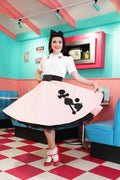 50's Poodle Skirt - Pink and Black