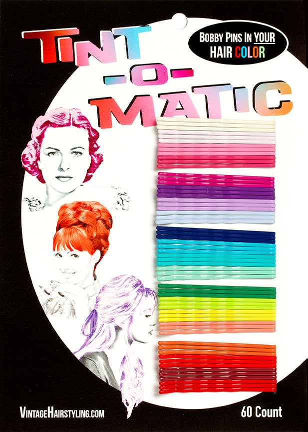 Tint-o-Matic Bobby Pins Sample Card