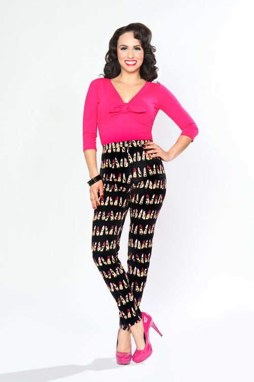 SALE!! Bettie Page Twist and Shout Top-Fuchsia