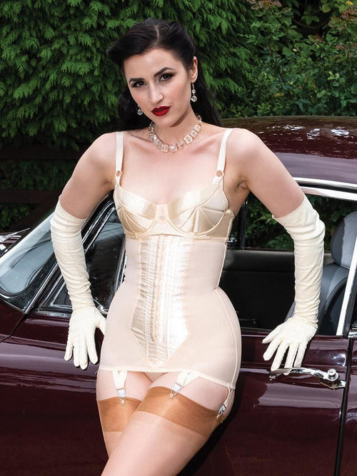 What Katie Did Longline Girdle - Vintage Peach