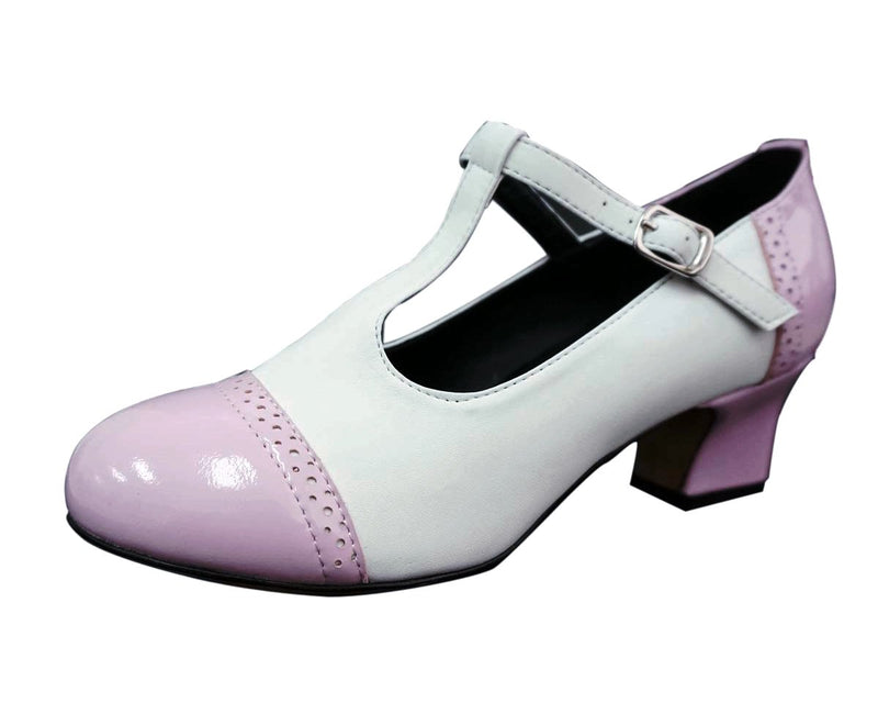 Rockn Roll Dance Shoes - Pink and White