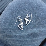 Handmade Antique Silver Skate Earrings