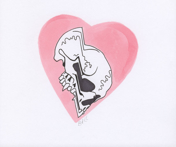 Untitled (heart skull)