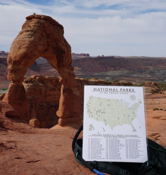 National Parks Map Checklist
