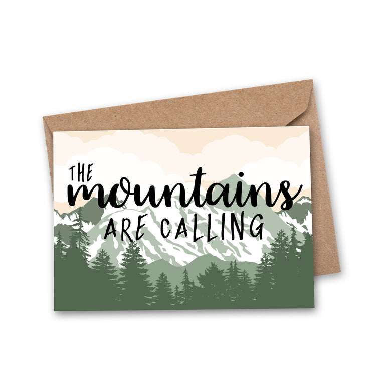 'The Mountains Are Calling' Travel Greeting Card