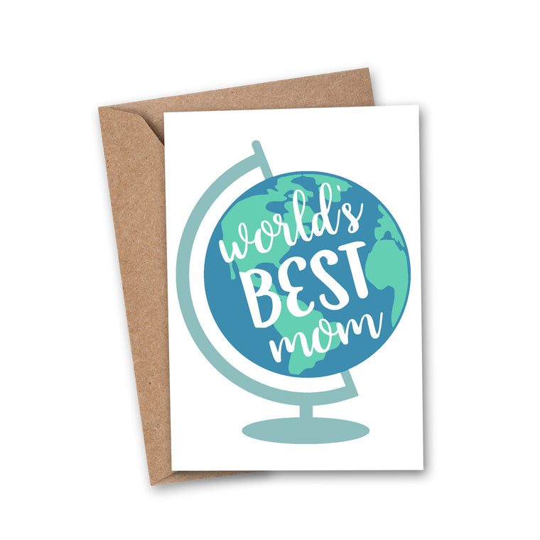 'World's Best Mom' Mother's Day Greeting Card
