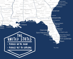 detailed usa map dark blue and white close up of legend
