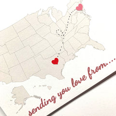 DIY Missing You Heart Long Distance Greeting Card