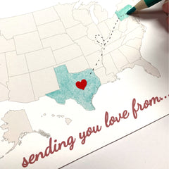 DIY Sending Love Heart Long Distance Greeting Card