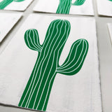 "Japanese ""WASHI"" greeting card / cactus"