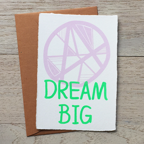 "Japanese ""WASHI"" greeting card / Dream big"