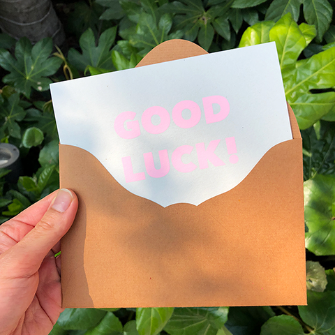 Japanese greeting card / GOOD LUCK!